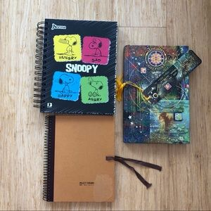 Other - 3 Notebook Snoopy, Water color, Dream Jurnal
